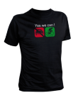 TShirt Hommes - Yes we can v�lo (manches courtes)