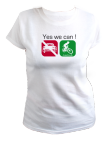 TShirt Femmes - Yes we can vélo (manches courtes)