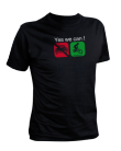 TShirt Hommes - Yes we can VTT (manches courtes)